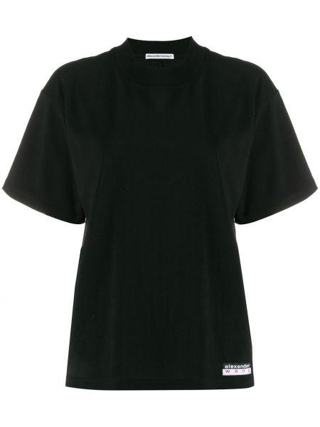 Рубашка с коротким рукавом в полоску без воротника T By Alexander Wang