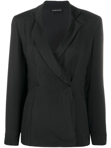 Классический пиджак черный в полоску Emporio Armani