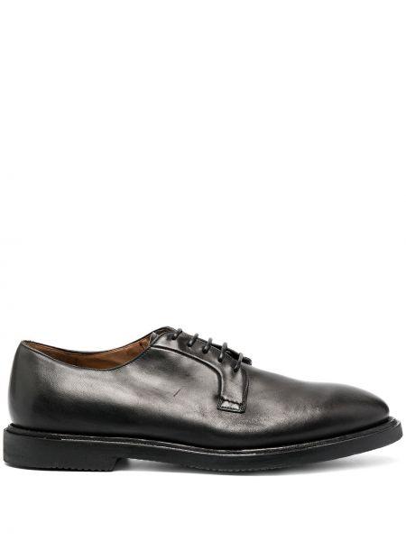 Кожаные черные туфли на шнуровке на шнуровке Silvano Sassetti