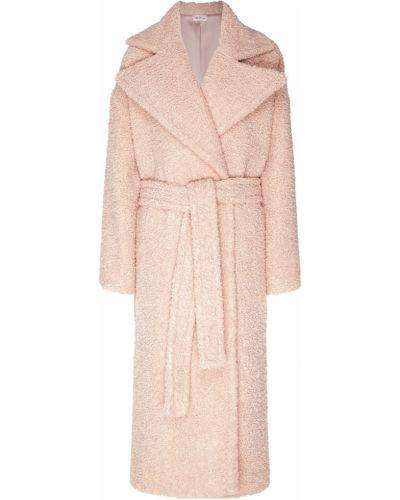 Пальто розовое букле ли-лу