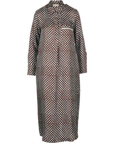Brązowa sukienka Momoni