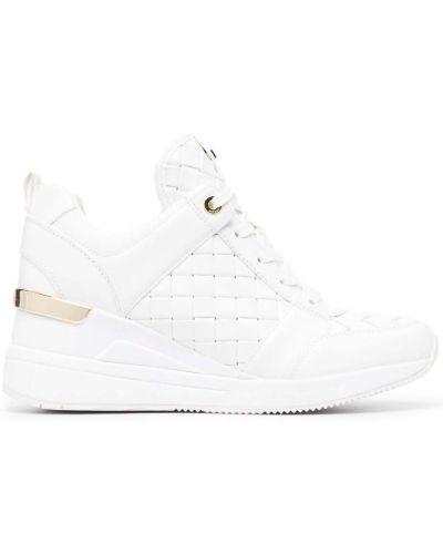 Кожаные белые кроссовки на шнуровке Michael Michael Kors