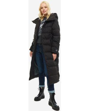 Куртка с капюшоном черная длинная Pepe Jeans