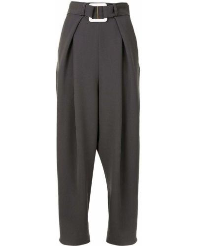 Серые свободные брюки с карманами свободного кроя с высокой посадкой Edeline Lee