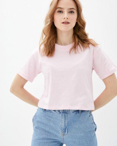 Розовая футболка с короткими рукавами Guess Jeans