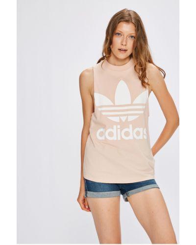 Розовый топ свободный Adidas Originals