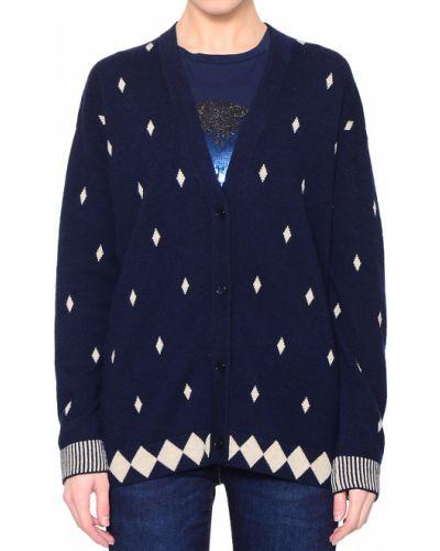 Кашемировая синяя кофта Ballantyne