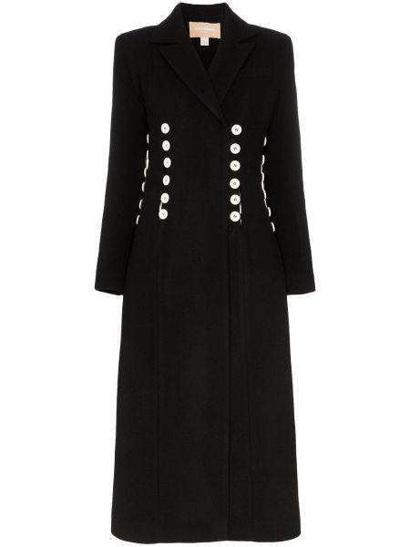 Шерстяное белое длинное пальто с капюшоном Matériel