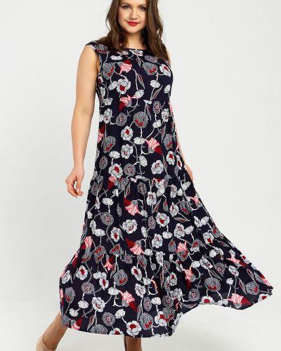 Свободное повседневное платье макси без рукавов Liza Fashion