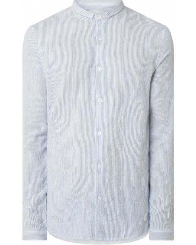 Niebieska koszula bawełniana w paski Nowadays