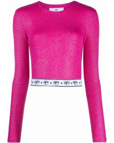 Розовая футболка с длинными рукавами Chiara Ferragni