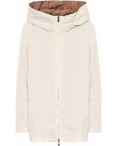 Коричневая куртка двусторонняя из натуральной кожи Loro Piana