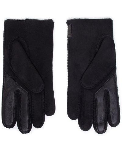 Czarny rękawiczki baranica Ugg