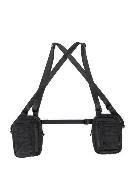 Мерцающая черная сумка через плечо Maharishi