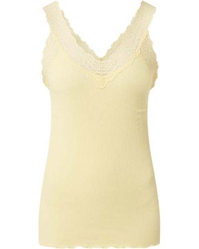 Prążkowany żółty top bawełniany Rosemunde