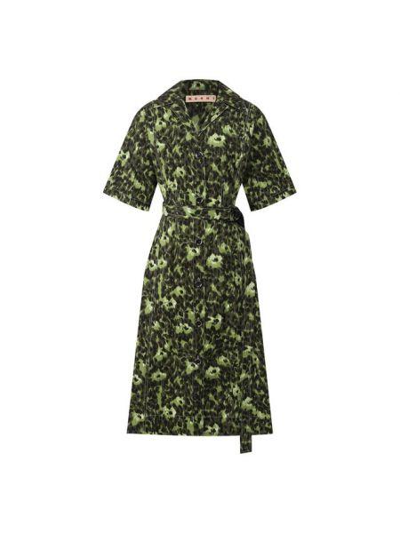 Платье с поясом платье-рубашка длинное Marni