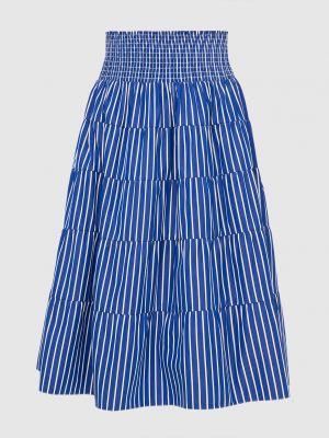 Синяя юбка миди Prada