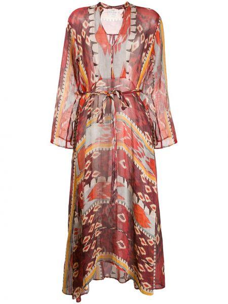 Платье миди с V-образным вырезом с рукавами Forte Forte