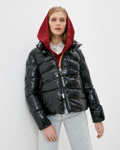 Теплая черная куртка Pinko
