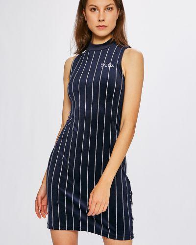 Платье мини синее из плотной ткани Fila