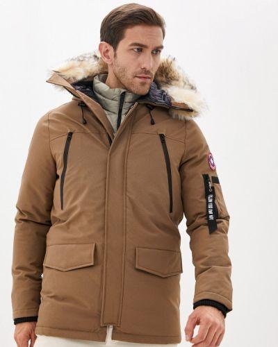 Бежевая утепленная куртка Paragoose