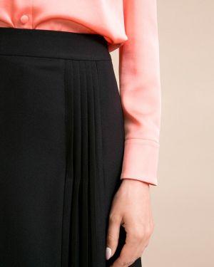 Плиссированная юбка миди с поясом Emka