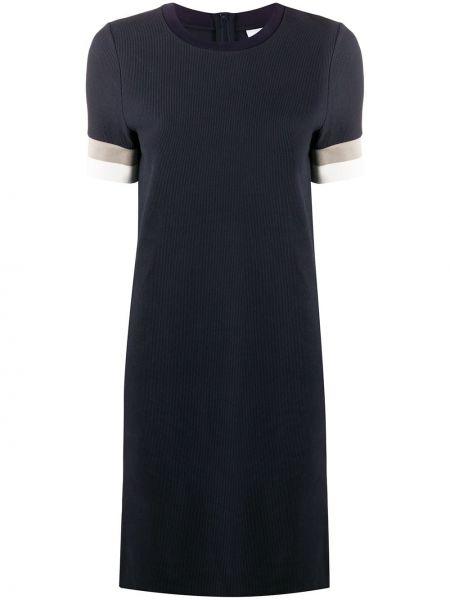 Синее платье мини с вырезом на молнии эластичное Boss Hugo Boss