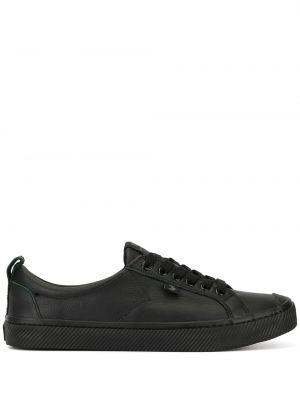 Czarne sneakersy skorzane sznurowane Cariuma