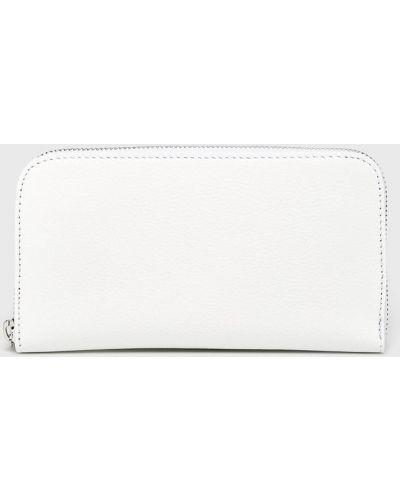 Кожаный кошелек на молнии белый Answear