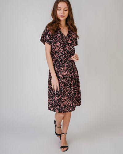 Платье с V-образным вырезом - черное Ichi