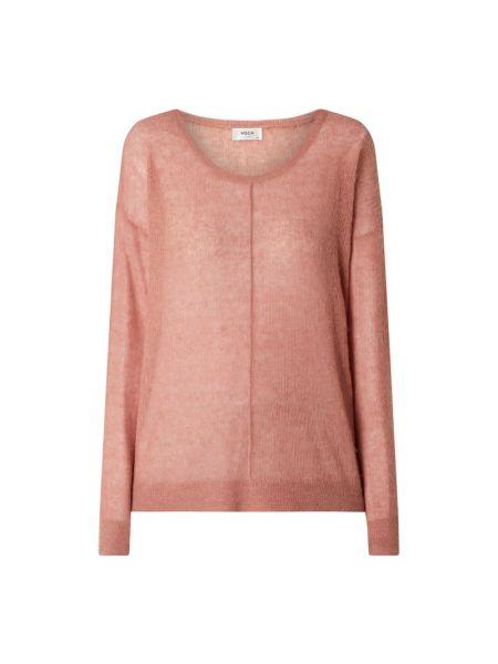 Prążkowany pomarańczowy sweter wełniany Moss Copenhagen