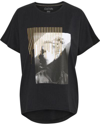 T-shirt - czarna Culture