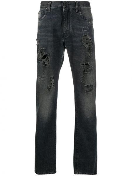 Biały bawełna bawełna klasyczny jeansy z kieszeniami Off-white