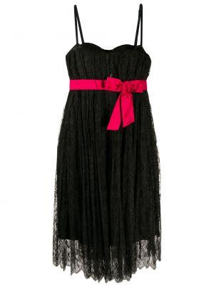 Черное нейлоновое ажурное платье на бретелях Dolce & Gabbana Pre-owned