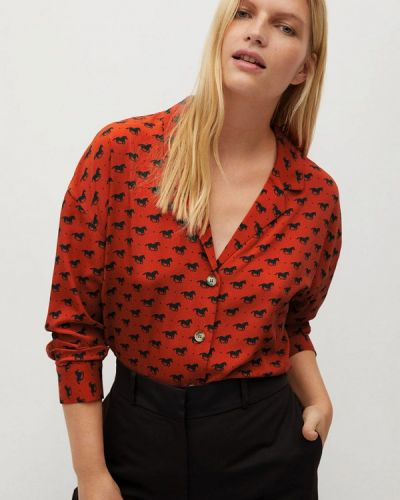 Оранжевая блузка Violeta By Mango
