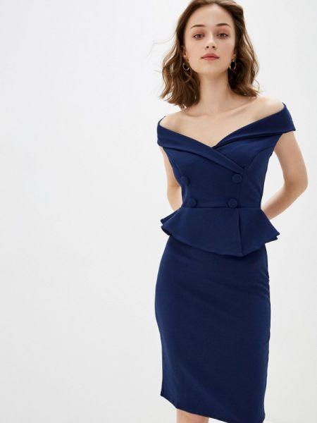 Синее вечернее платье City Goddess