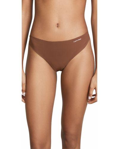 Бесшовные стринги из микрофибры Calvin Klein Underwear