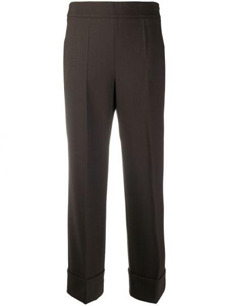 С завышенной талией коричневые брюки с карманами Incotex