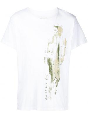 Белая футболка с короткими рукавами Greg Lauren
