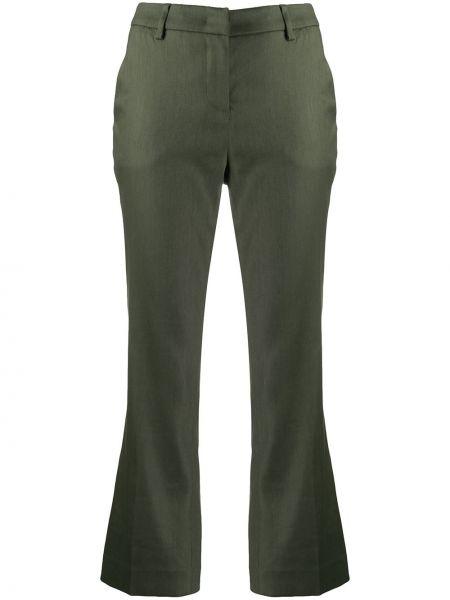 Расклешенные укороченные брюки с поясом Lardini
