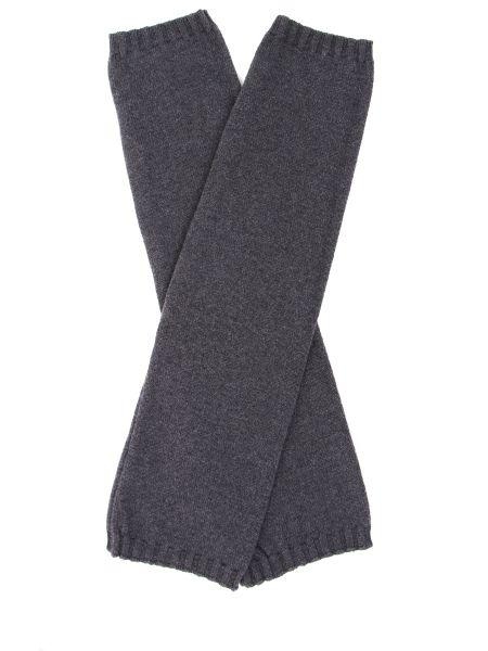 Серые классические шелковые перчатки длинные эластичные Panicale