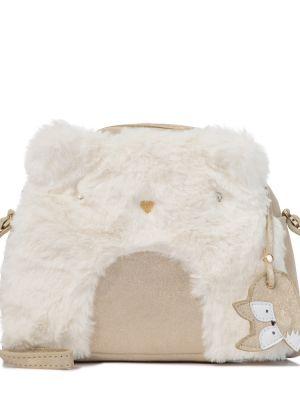 Skórzany biały torba kosmetyczna Bonpoint