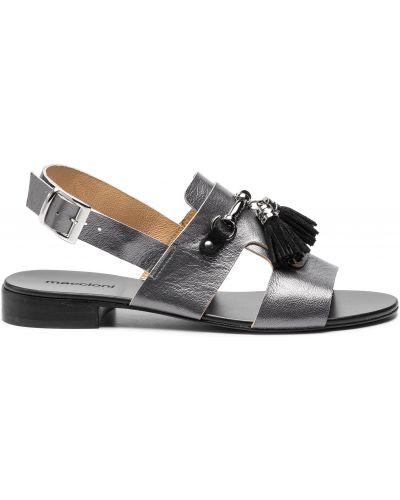 Босоножки на каблуке - серые Maccioni