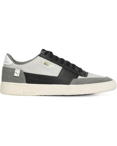 Czarne sneakersy skorzane sznurowane Puma Select