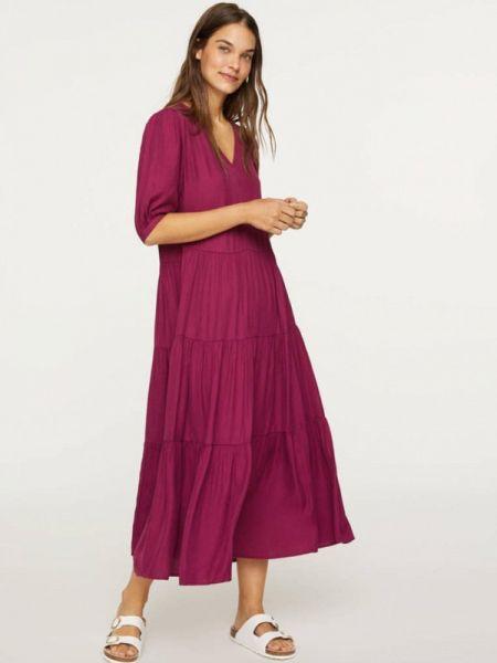 Бордовое платье Oysho