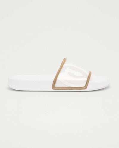 Białe klapki Trussardi Jeans