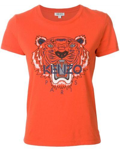 Футболка прямая с тигром Kenzo