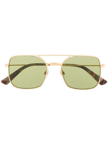 Прямые муслиновые желтые солнцезащитные очки квадратные Diesel