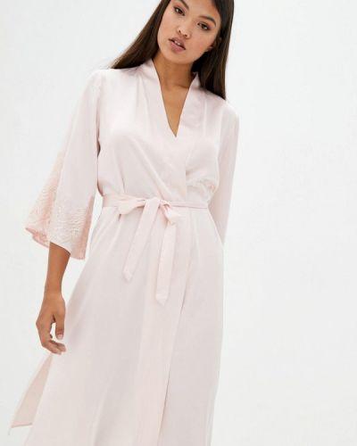 Розовый кружевной домашний халат Komilfo