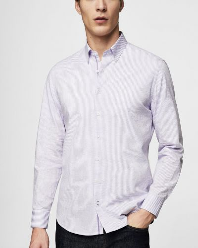 Рубашка в клетку в полоску Mango Man